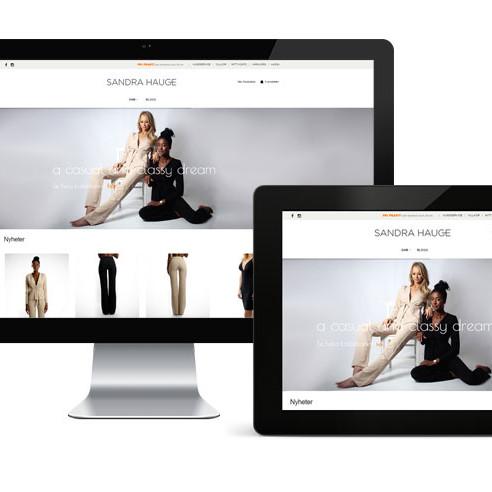 hemsidax levererar ny webshop till sandrahauge.se
