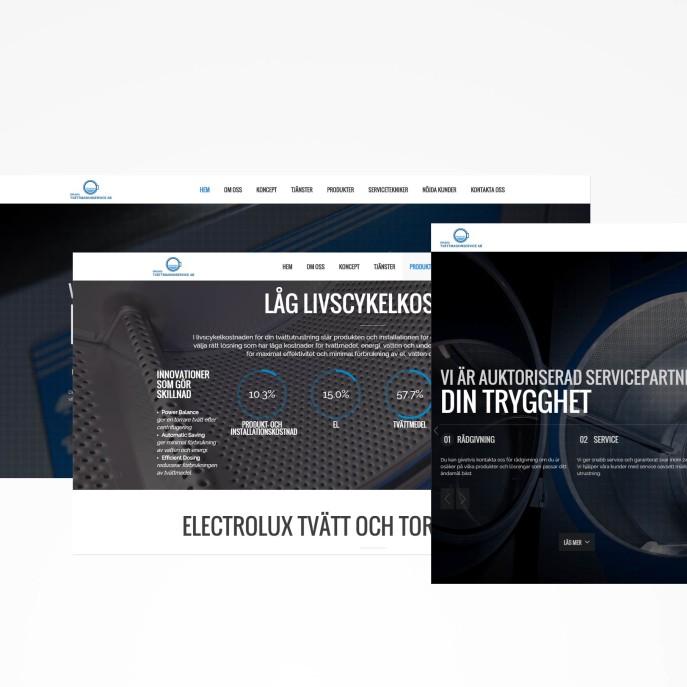 responsiv hemsida orebro tvattmaskinservice producerad av hemsidax